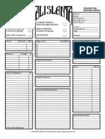 1E Character Sheet