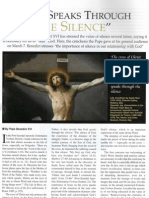 """God speaks Through the Silence"" Pope Benedict XVI"