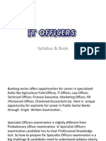 IBPS IT Officers Syllabus and Book