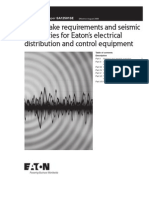 Earthquake requirements and seismic capabilities for Eaton's electrical distribution and control equipment A12501SE_150dpi
