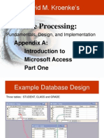 App A Powerpoint database home work test notes for chapter 3