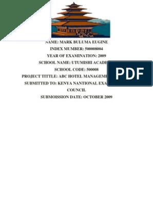 Bulumas Ms Word ABC Hotel Management System1 | Operating System