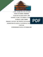 Bulumas Ms Word ABC Hotel Management System1