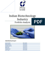 Indian Biotechnology Industry - Portfolio Analysis