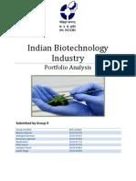 Indian Biotechnology Industry - Portfolio Analysis