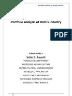 Hotel Industry- Portfolia Analysis