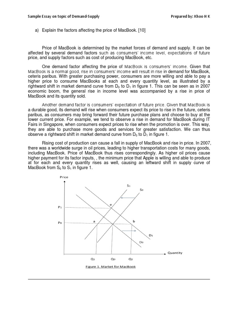 sample essay on demand supply kk demand supply and demand