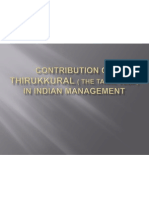 Contribution of Thirukkural ( the Tamil Veda)in management