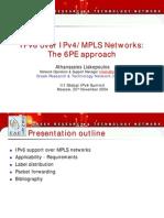 ALiakopoulos - 6PE - 3rd Global IPv6 Summit