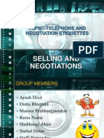 selling and negotiation