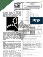 ADUNI  QUÍMICA - CONFIGURACIÓN ELECTRÓNICA - BASICO - 2013