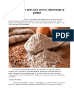 7 ingrediente esentiale pentru intoleranta la gluten