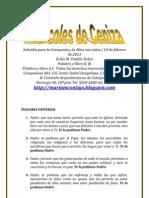 MIÉRCOLES DE CENIZA | ALIANZA DE AMOR