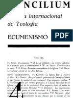 004 CONCILIUM, Revista internacional de Teología, ECUMENISMO. 1965