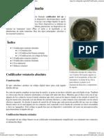 Codificador Rotatorio - Wikipedia, La Enciclopedia Libre