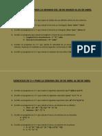 9.- Ejercicios Secuenciales de C++