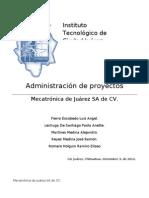 Mecatrónica de Juárez SA de CV / Proyecto Final de la materia de Administración de Proyectos 2012-08