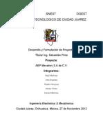 AEP Mecatros S.a de C.V / Proyecto Final de la materia de Administración de Proyectos 2012-08