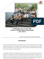 Catalogo de Cursos Centro de Estudios Generales UNA