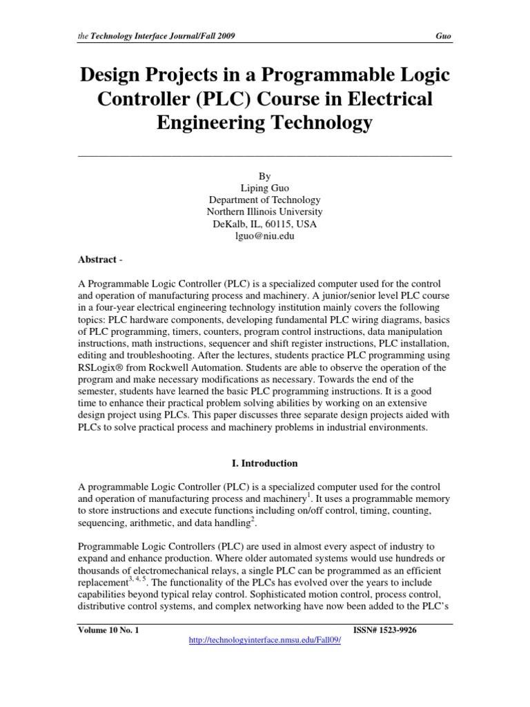 PLC Design   Programmable Logic Controller   Automation