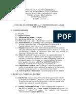 Esquema del Informe de Pasantías Largas (ACTIVIDADES)