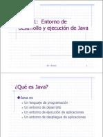 Tema 1 El Entorno de Desarrollo de Java
