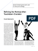 Refining the Point(s)-After Touchdown Decision by Harold Sackrowitz (2000)