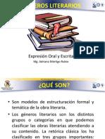 PRESENTACION GENEROS LITERARIOS