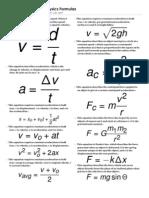 MCAT Physics Formulas