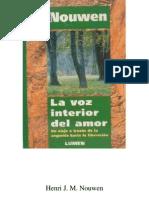 111062565 La Voz Interior Del Amor Henri J M Nouwen