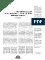 Cartografias Panamericanas en Cocina Eclectica1890 de Juana Manuelagorriti