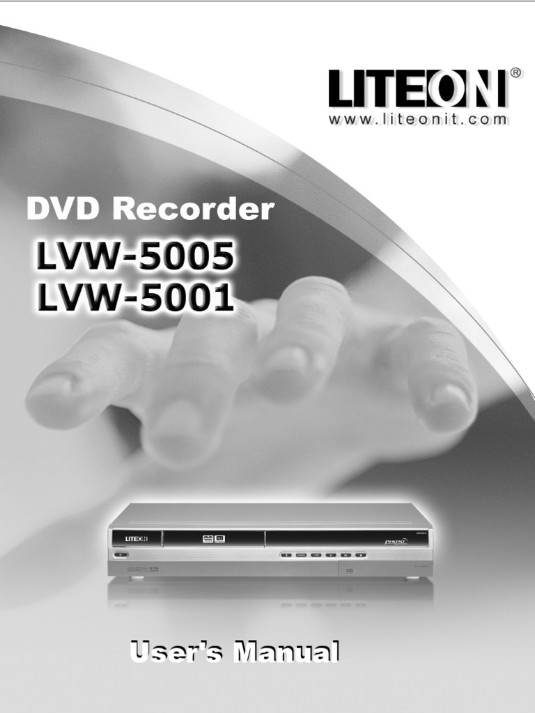 LITEON 5005 English for EU manual.pdf | Compact Disc | Videocassette  Recorder