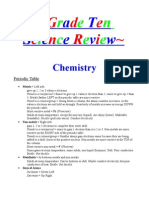 science study notes grade 9