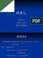 Curs Orl Rinita,Sinuzita,Adenoidita