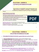 LEGATURA  CHIMICA LEGATURI (FORTE) INTERMOLECULARE