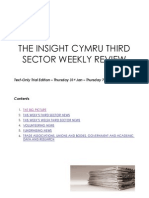 The Insight Cymru Weekly Third Sector Review