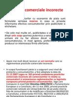 Protectia Consumatorului in Romania - Curs 3 - Practici comerciale incorecte