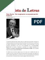 Entrevista Peter Burke (Revista de Letras)