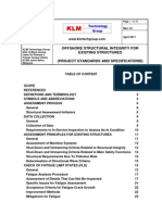 PROJECT STANDARDS and SPECIFICATIONS Offshore Structure Integrity Structures Rev01