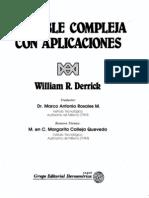 William.R.derrik - Variable Compleja Con Aplicaciones