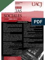 Convocatoria Doctorado en Ciencias Sociales UACJ