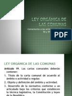 Ley orgánica de las comunas 97