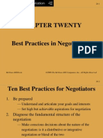 Best Ractices in Negotiation