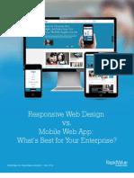 Responsive Web Design vs. Mobile Web App What is Best for Enterprise Whitepaper by RapidValue Solutions (1)