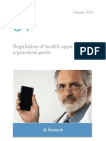Regulation of Health Apps a Practical Guide January 2012