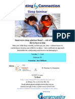 Sleep Seminar - 19th Feb 2013 - Plympton SA
