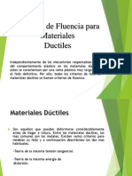 Criterios de Fuencia Para Materiales