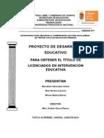 Proyecto Comprension Corregido Xochilt Junio2012 Marcelino Raul Wilson