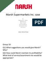 Marsh Supermarkets Inc Case