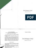 LINDBERG, S. Entre Heidegger Et Hegel